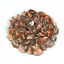 Cseh préselt Pinch gyöngy - crystal apollo - 5x3mm