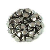 Cseh préselt Pinch gyöngy - Crystal Chrome - 5x3mm
