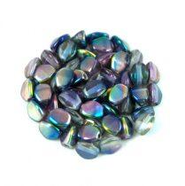 Cseh préselt Pinch gyöngy - Crystal Magic Blue Pink - 5x3mm