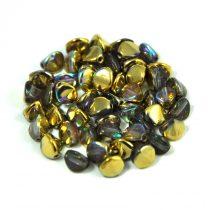 Cseh préselt Pinch gyöngy - crystal golden rainbow - 5x3mm