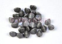 Cseh préselt Pinch gyöngy - szürke márvány lüszter - 7x5 mm