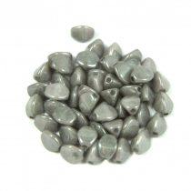 Cseh préselt Pinch gyöngy - szürke márvány lüszter - 5x3 mm