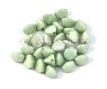 Cseh préselt Pinch gyöngy - fehér zöldesszürke márvány  - 5x3 mm