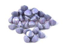 Cseh préselt Pinch gyöngy - telt fehér kék márvány - 7x5 mm
