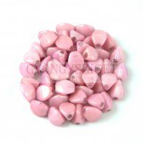 Cseh préselt Pinch gyöngy - Alabaster Pink Luster - 5x3 mm