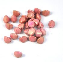 Cseh préselt Pinch gyöngy - telt rózsa bronz lüszter - 7x5 mm