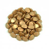 Cseh préselt Pinch gyöngy - powder golden shine - 5x3mm