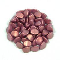 Cseh préselt Pinch gyöngy - rose bronze golden shine - 5x3mm