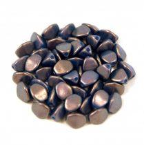 Cseh préselt Pinch gyöngy - sapphire golden shine - 5x3mm