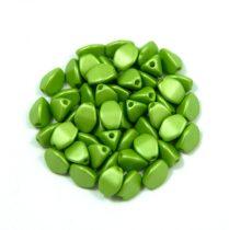 Cseh préselt Pinch gyöngy - silk satin green - 5x3mm