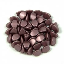 Cseh préselt Pinch gyöngy - chocolate metallic satin - 5x3mm