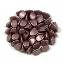 Cseh préselt Pinch gyöngy - chocolate metallic satin - 5x3mm