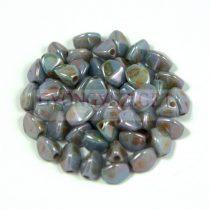 Cseh préselt Pinch gyöngy - zöld barna márvány - 5x3 mm