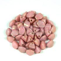 Cseh préselt Pinch gyöngy - fehér rózsa lüszter - 5x3mm