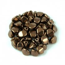 Cseh préselt Pinch gyöngy - Dark Bronze - 5x3mm