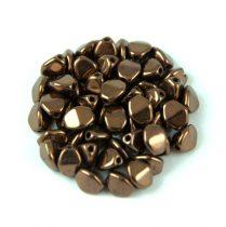 Cseh préselt Pinch gyöngy - Dark Bronze - 5x3mm - 200db
