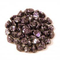 Cseh préselt Pinch gyöngy - Tweedy Purple - 5x3mm