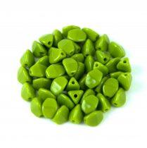 Cseh préselt Pinch gyöngy - Opaque Green - 5x3mm