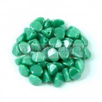 Cseh préselt Pinch gyöngy - Turquoise Green Luster - 5x3mm - 200db