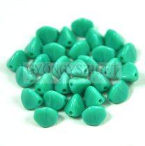 Cseh préselt Pinch gyöngy - turquoise green - 3x5mm