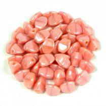 Cseh préselt Pinch gyöngy - opál rózsa picasso luster - 5x3mm
