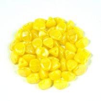 Cseh préselt Pinch gyöngy - yellow luster - 5x3mm