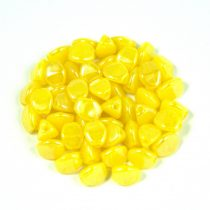 Cseh préselt Pinch gyöngy - yellow luster - 5x3mm