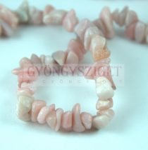 Pink Opal gyöngy - splitter - 5 - 7 mm - szálon