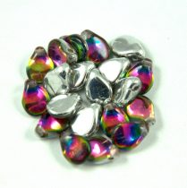 Pip cseh préselt üveggyöngy - Crystal Vitral Medium - 5x7mm
