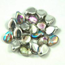 Pip cseh préselt üveggyöngy - Crystal Silver Rainbow - 5x7mm