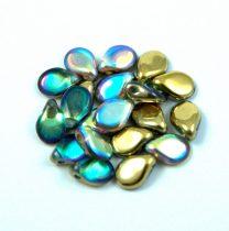 Pip cseh préselt üveggyöngy-00030-98536 - crystal golden rainbow -5x7mm