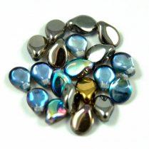 Pip cseh préselt üveggyöngy-00030-98537- kristály grafit ab -5x7mm