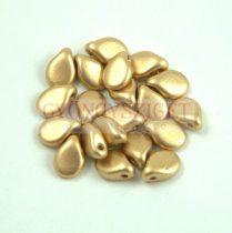 Pip cseh préselt üveggyöngy - Aztec Gold -5x7mm