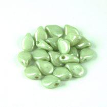 Pip cseh préselt üveggyöngy - Alabaster Green Luster - 5x7mm