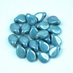 Pip cseh préselt üveggyöngy - Alabaster Blue Luster - 5x7mm