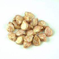Pip gyöngy - Alabaster Rose Travertin - 5x7mm - 100db