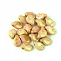Pip gyöngy - Alabaster Pink Traventin - 5x7mm - 100db