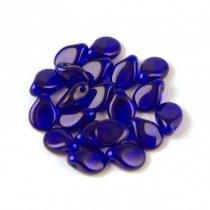 Pip cseh préselt üveggyöngy - Transparent Cobalt - 5x7mm