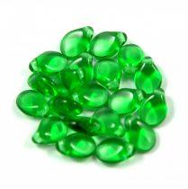 Pip cseh préselt üveggyöngy-50120-fern green -5x7mm