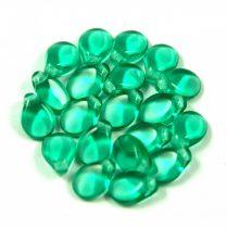 Pip cseh préselt üveggyöngy-50710-emerald -5x7mm