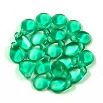 Pip cseh préselt üveggyöngy - Emerald - 5x7mm