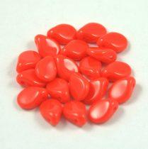 Pip cseh préselt üveggyöngy - Opaque Red - 5x7mm