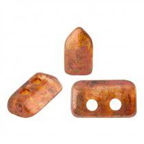 Piros® par Puca®gyöngy - Crystal Copper Spotted - 2x5 mm