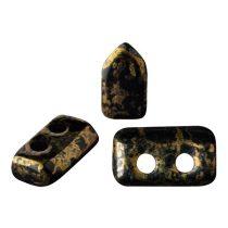 Piros® par Puca®gyöngy - Jet Bronze - 2x5 mm
