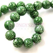 Préselt festett üveggyöngy - 10mm - Moss Green