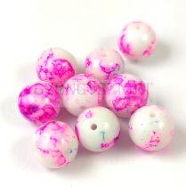 Préselt festett üveggyöngy - 10mm - Alabaster Pink