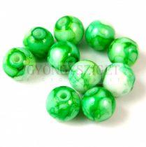 Préselt festett üveggyöngy - 10mm - Alabaster Green