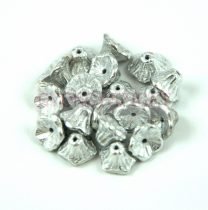 Cseh préselt virág gyöngy - harangvirág - Silver - 7x5mm