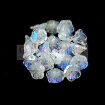 Cseh préselt virág gyöngy - harangvirág - Crystal AB - 7x5mm