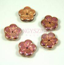 Cseh préselt virág gyöngy - crystal California pink - 14mm